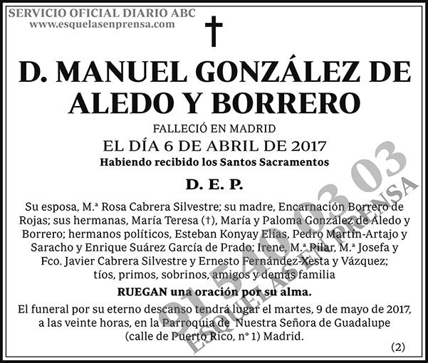 Manuel González de Aledo y Borrero